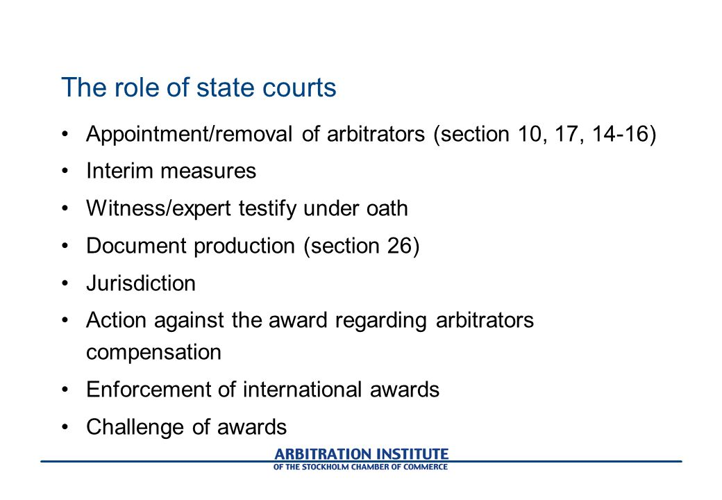 The role of state courts