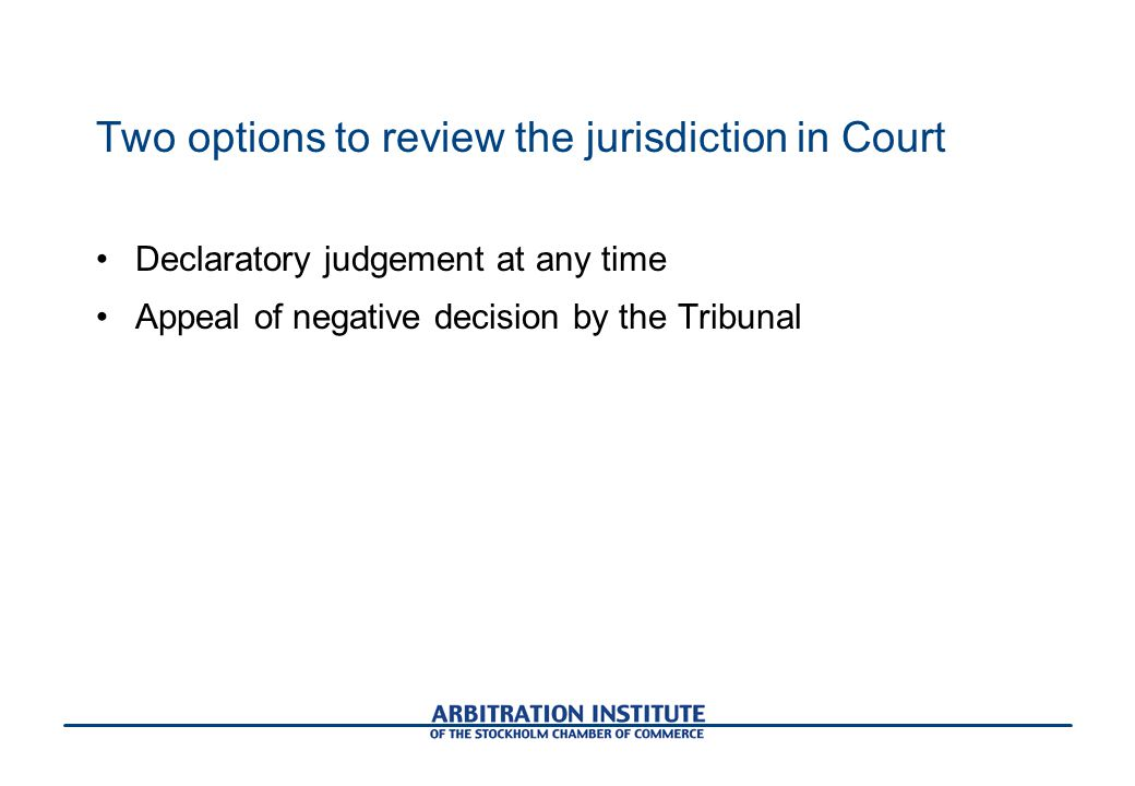 Two options to review the jurisdiction in Court