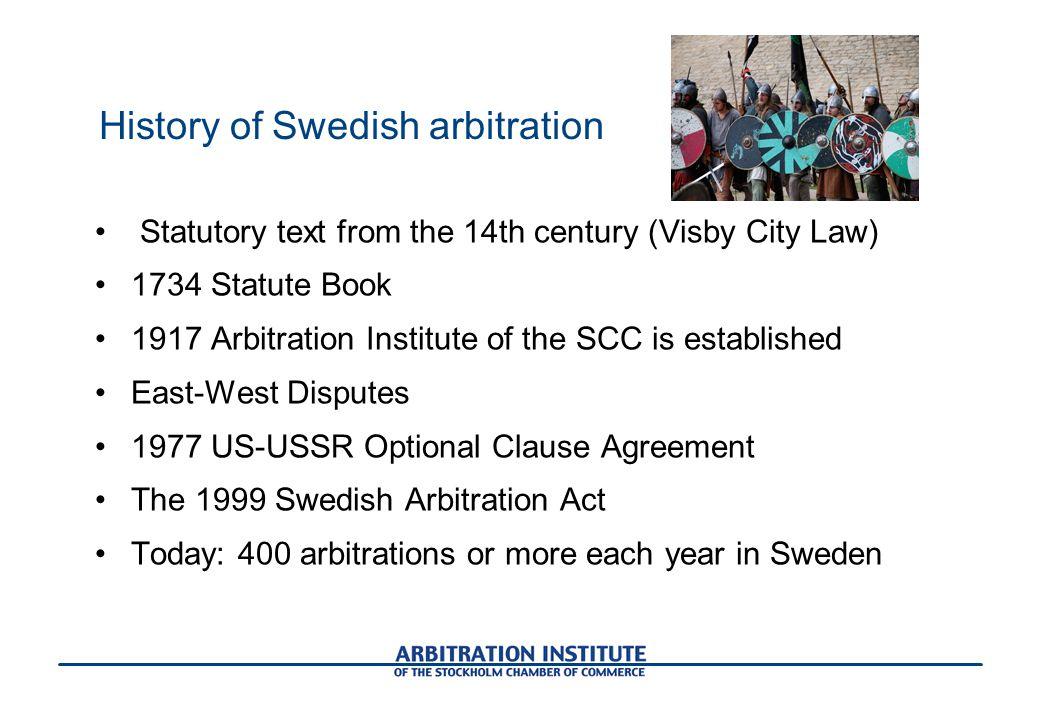 History of Swedish arbitration