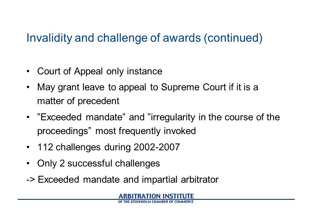 Arbitration in sweden and the role of the scc ppt download 31 invalidity publicscrutiny Image collections