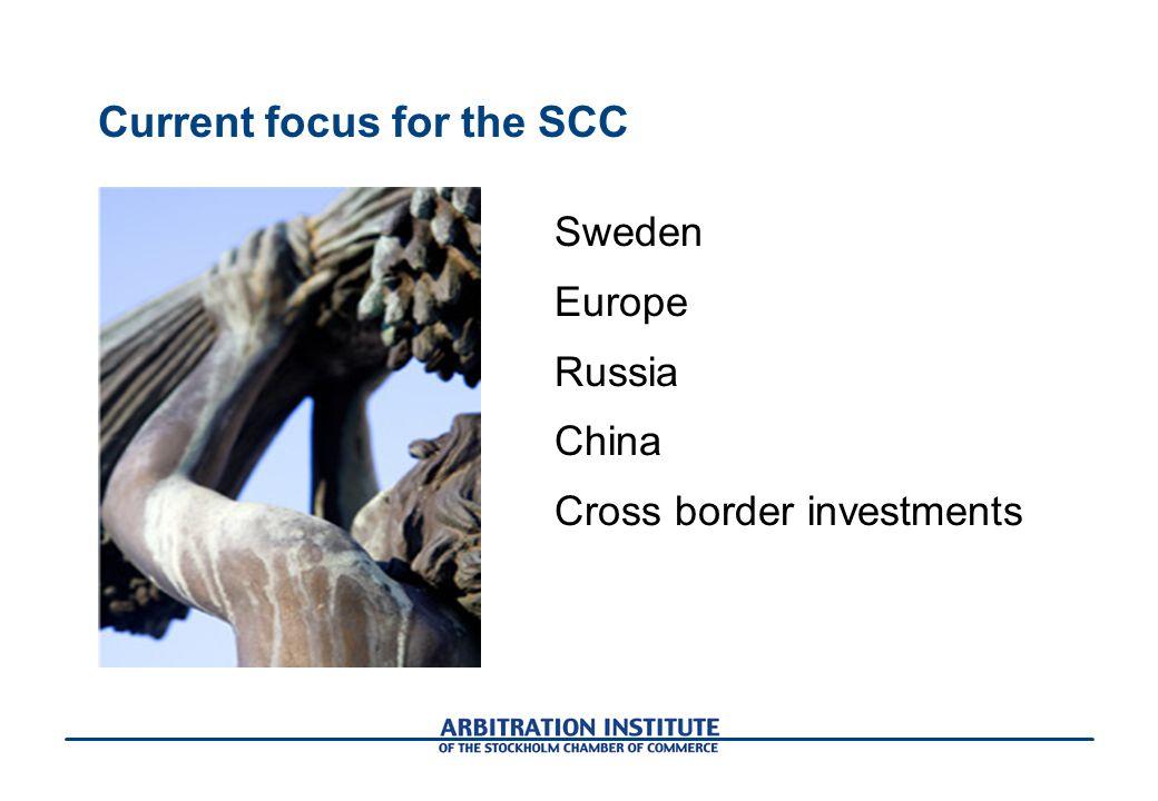 Current focus for the SCC
