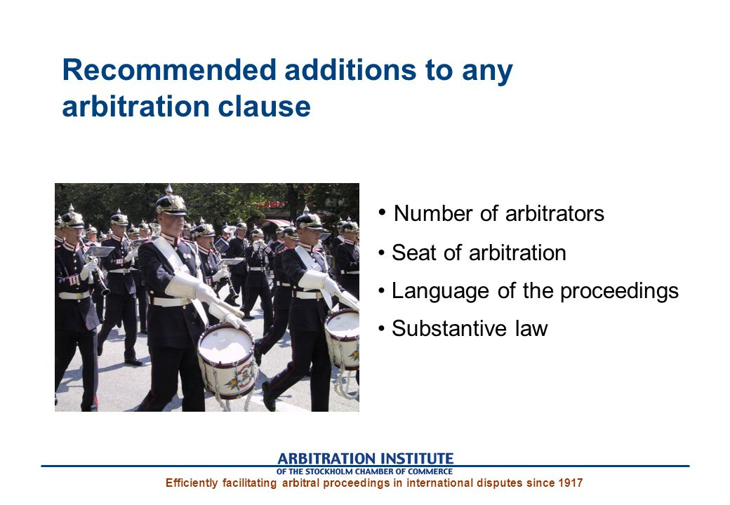 Recommended additions to any arbitration clause