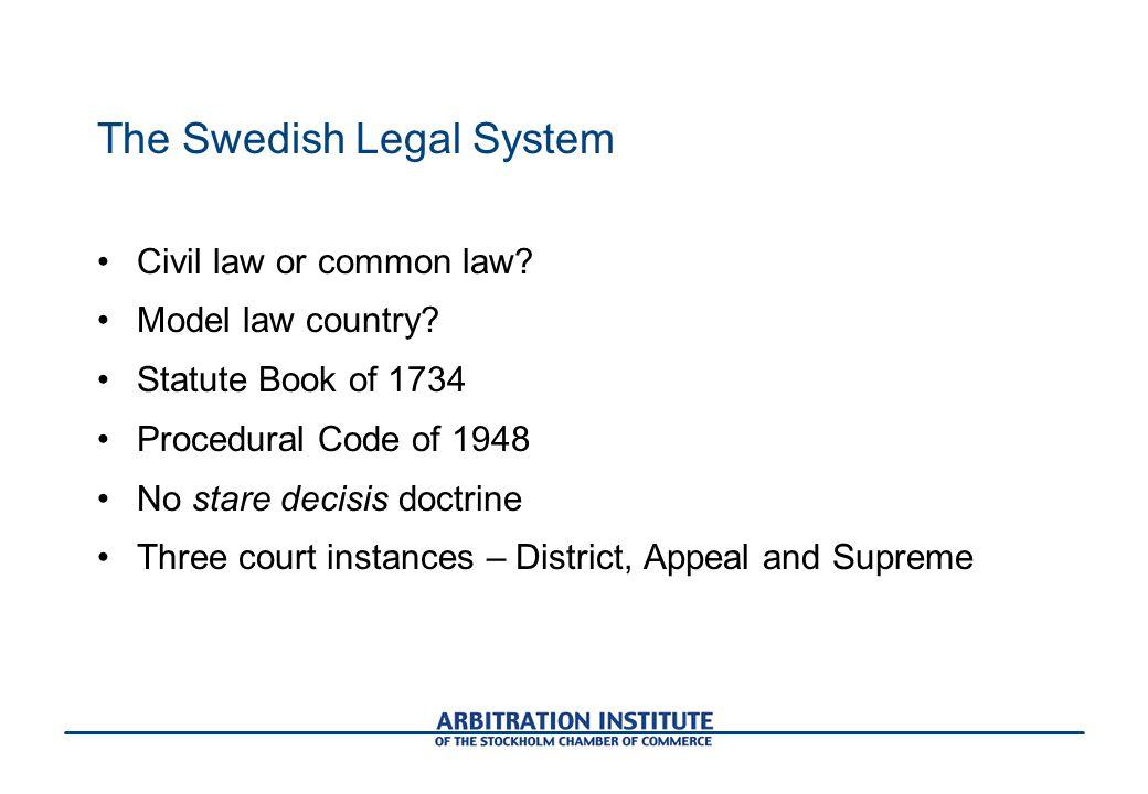 The Swedish Legal System