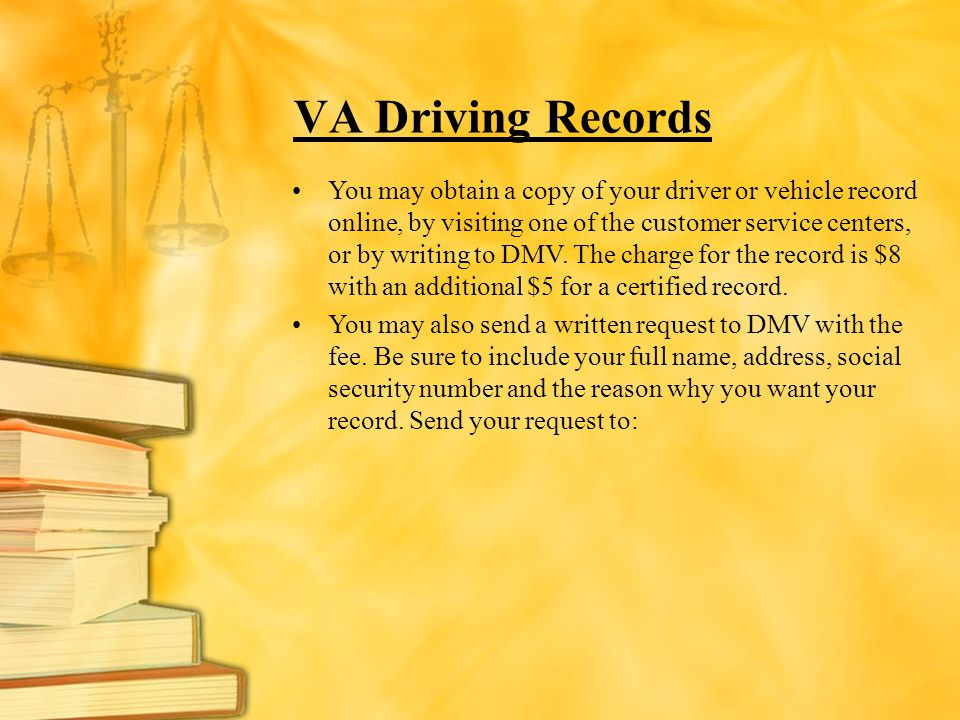 VA Driving Records