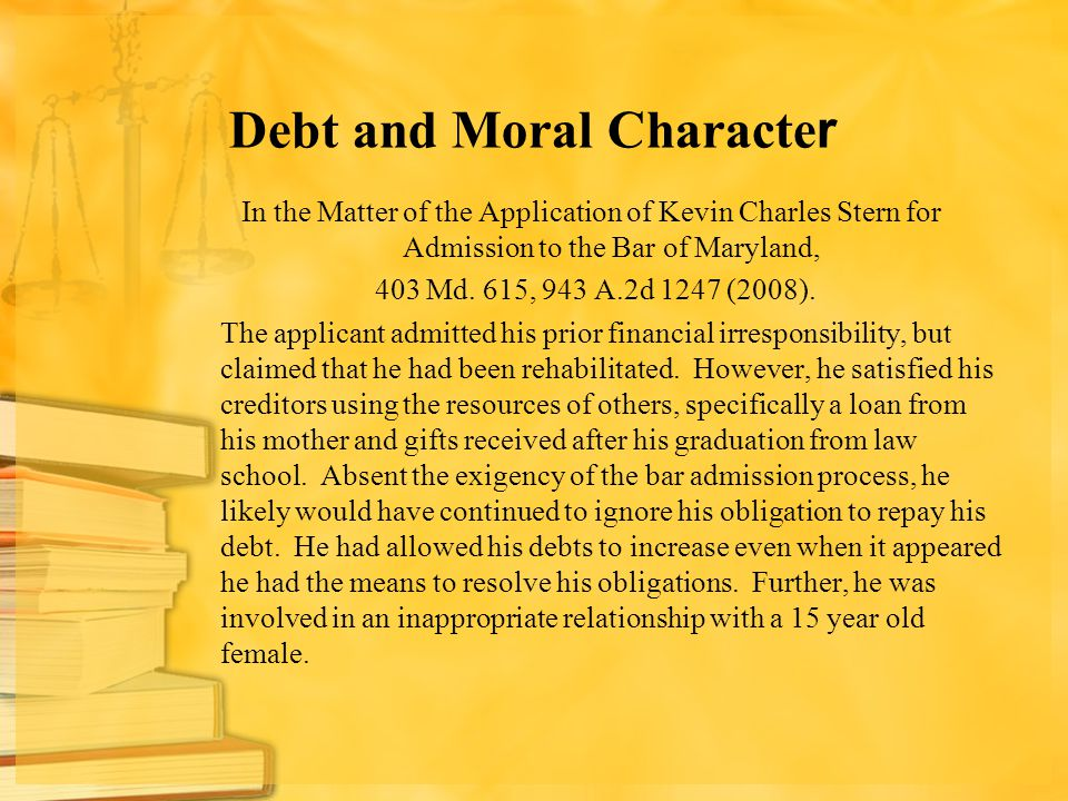 Debt and Moral Character