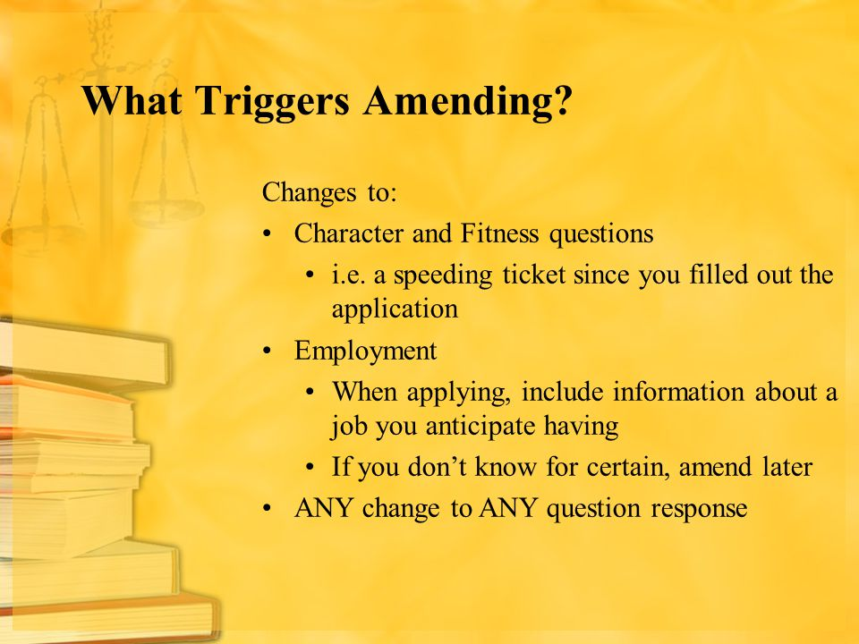 What Triggers Amending