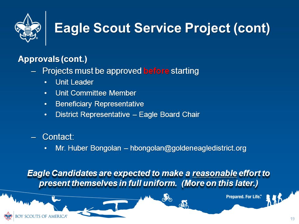 Eagle Scout Service Project (cont)