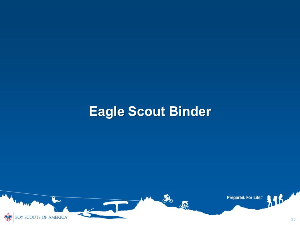 Eagle Scout Binder