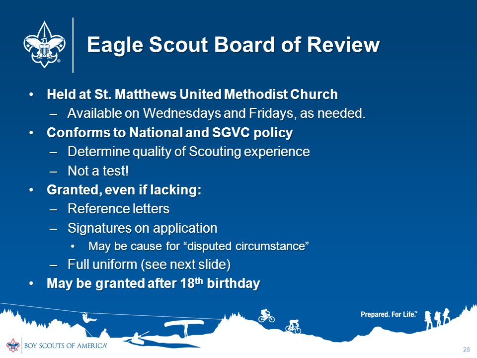 Eagle Scout Board of Review