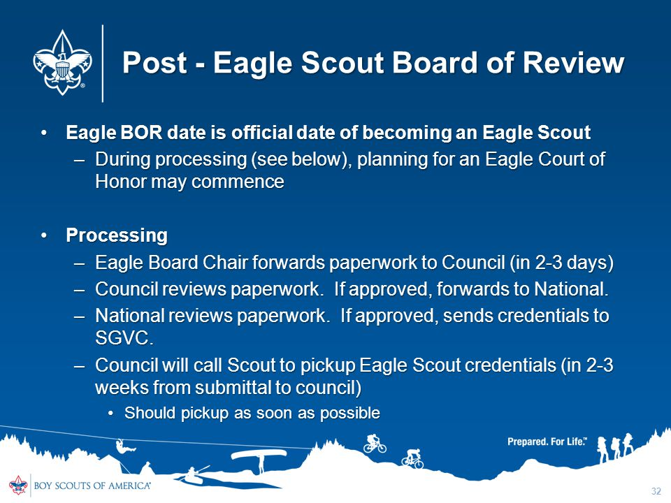 Post - Eagle Scout Board of Review