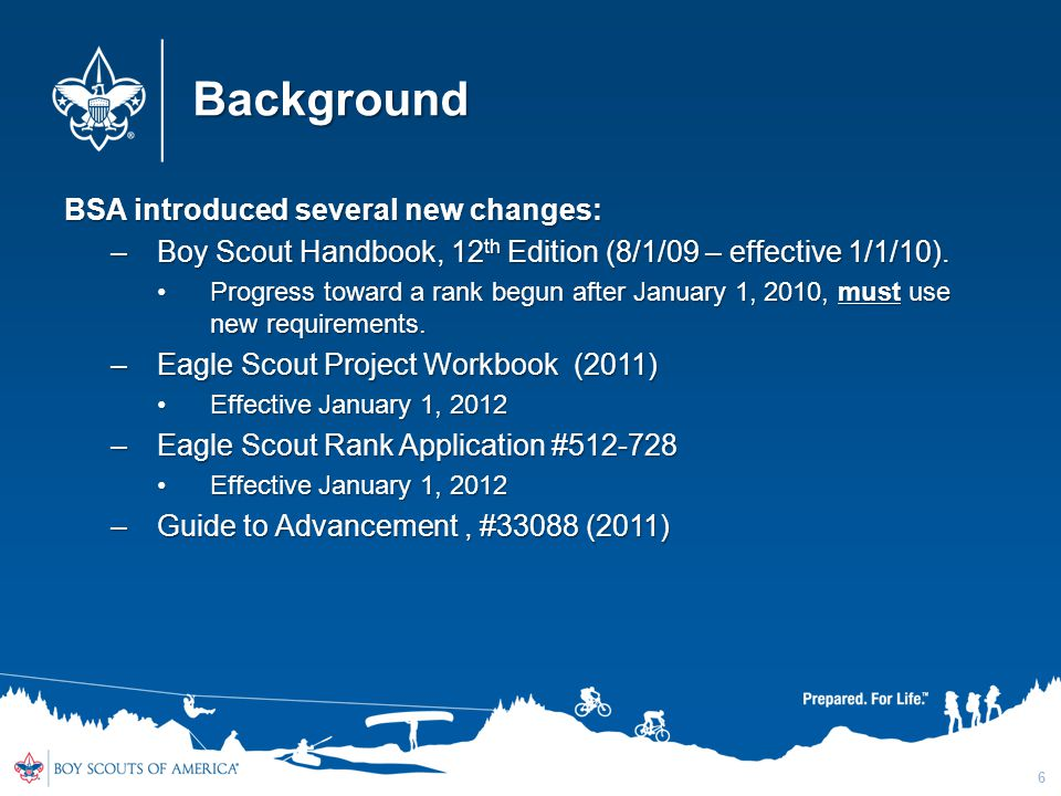 Background BSA introduced several new changes: