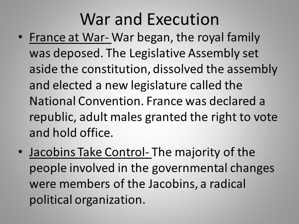 War and Execution