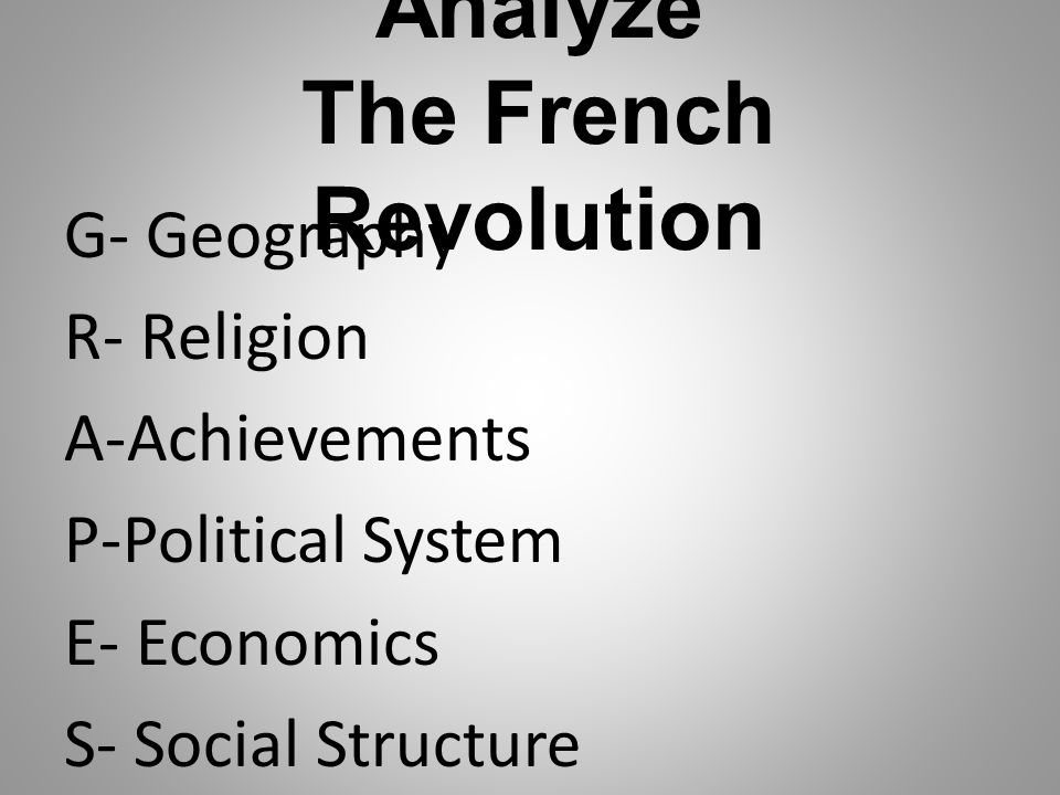 Analyze The French Revolution