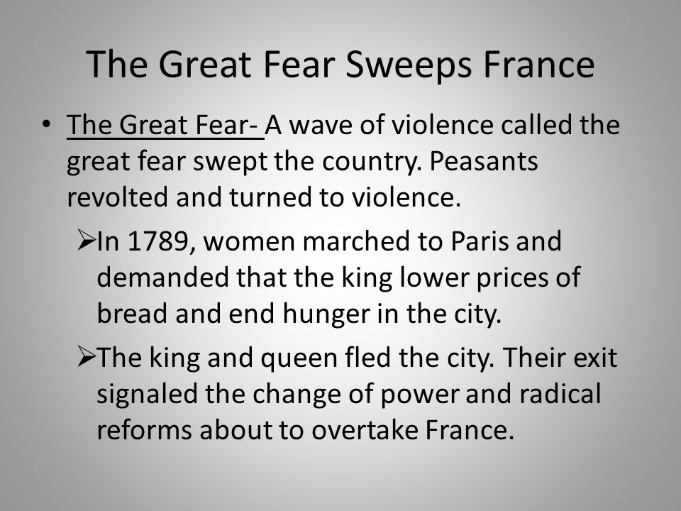 The Great Fear Sweeps France
