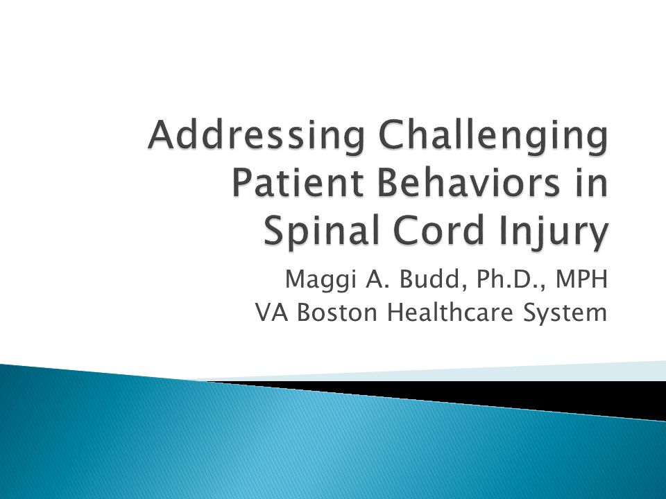 Addressing Challenging Patient Behaviors in Spinal Cord Injury