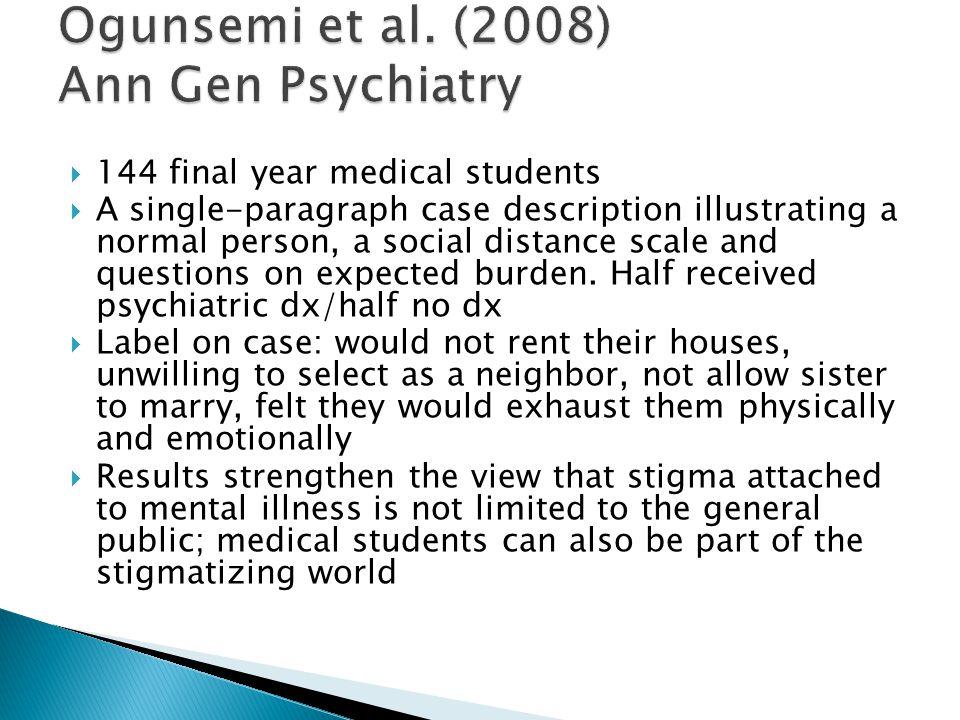 Ogunsemi et al. (2008) Ann Gen Psychiatry