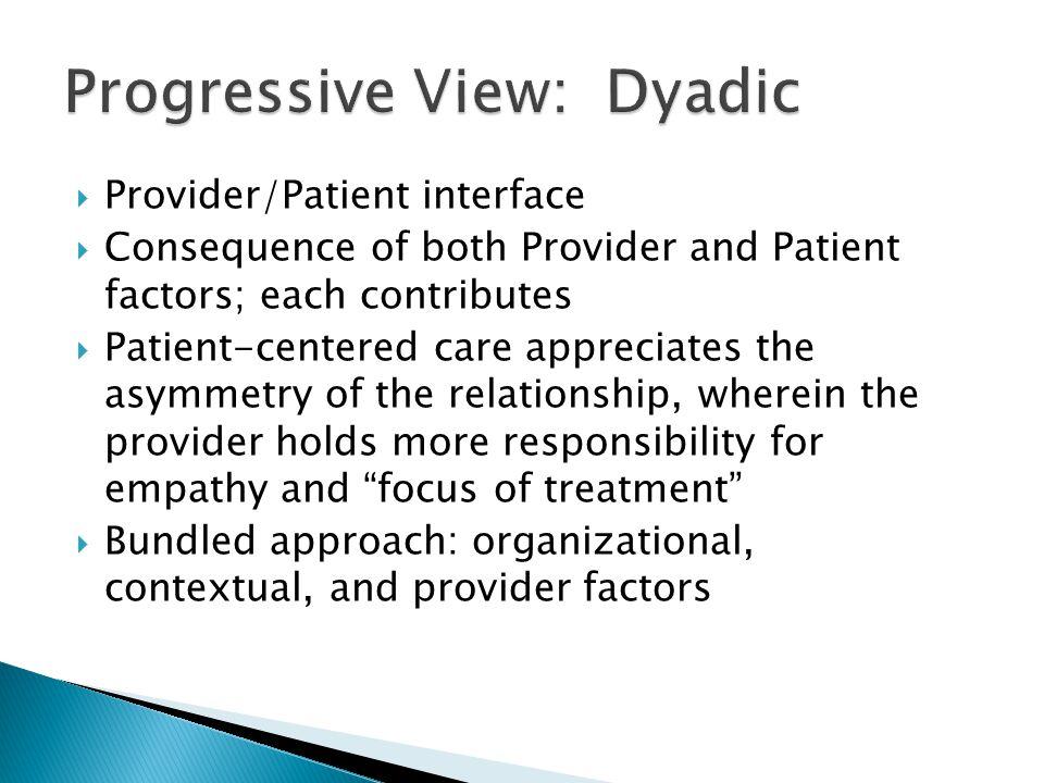 Progressive View: Dyadic