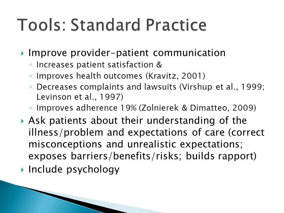 Tools: Standard Practice