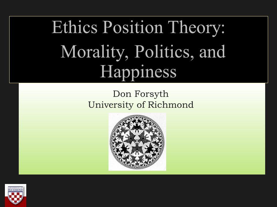 Don Forsyth University of Richmond