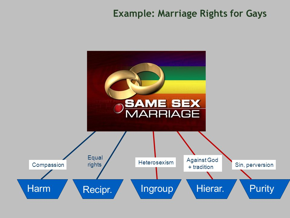 Example: Marriage Rights for Gays