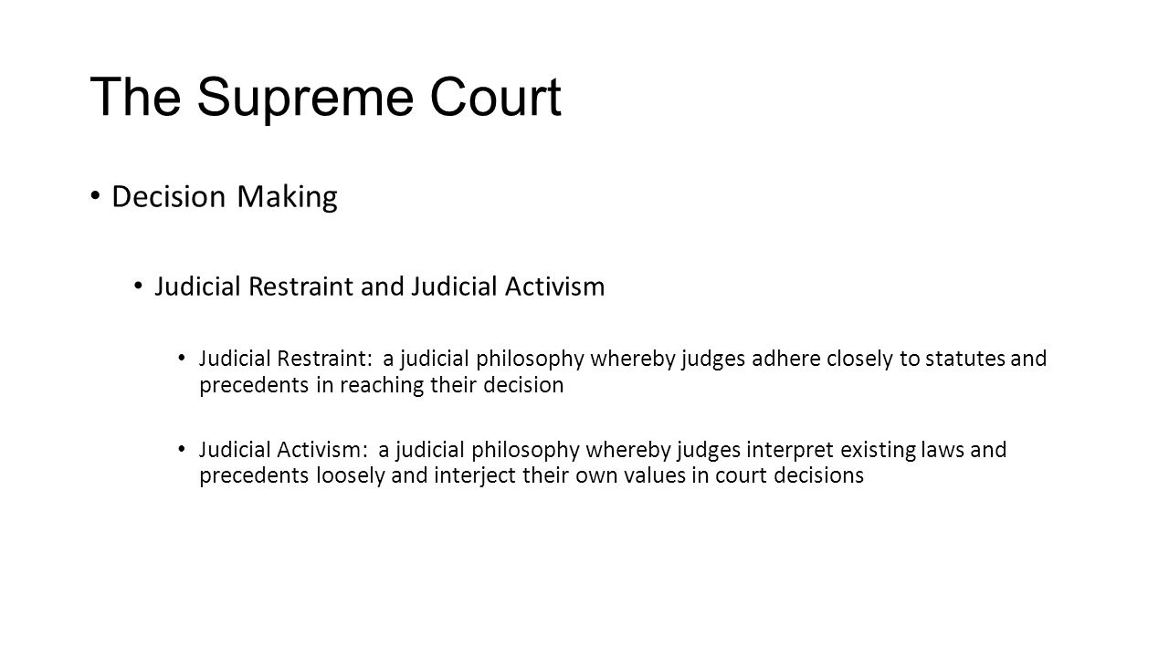 The Supreme Court Decision Making