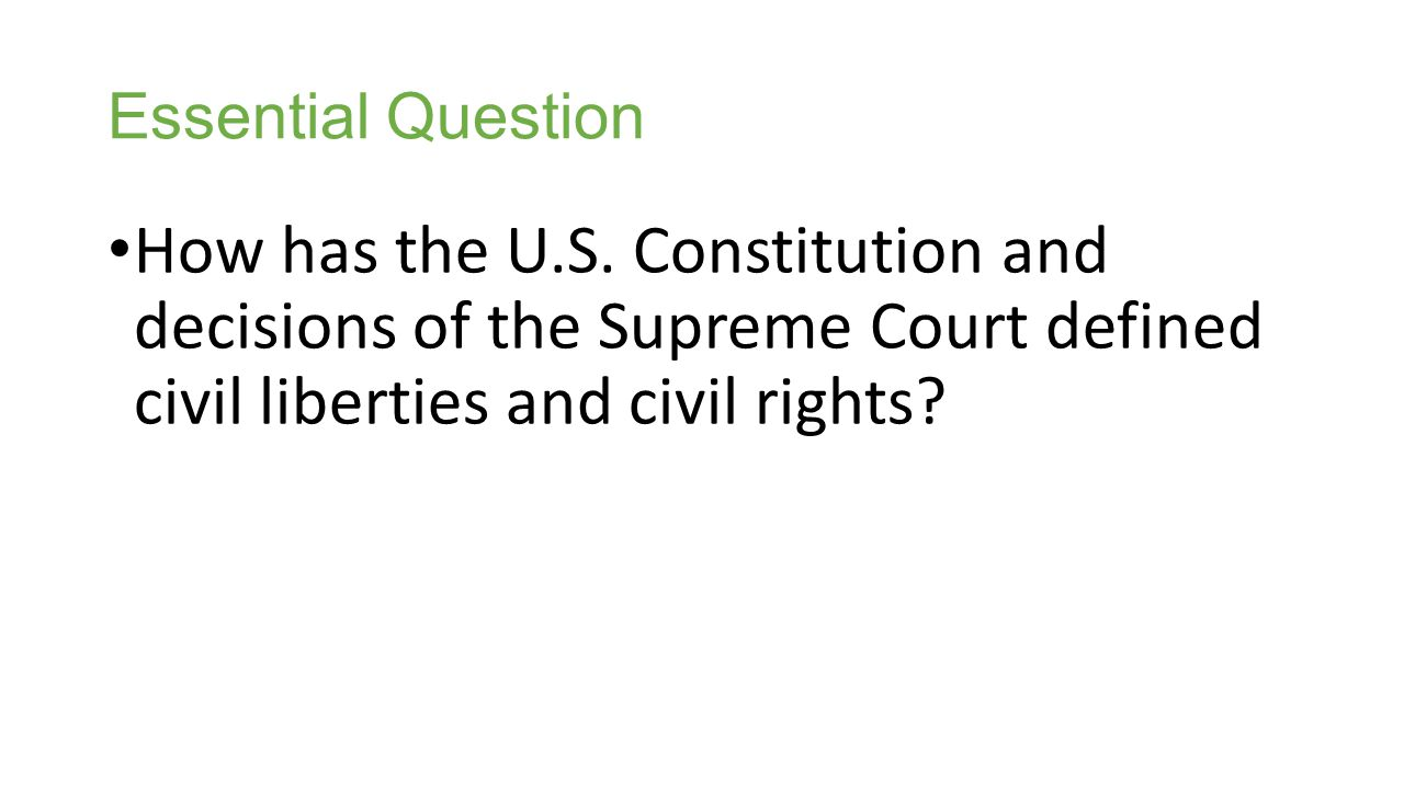 Essential Question How has the U.S.