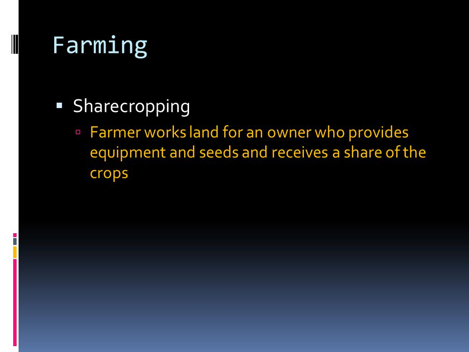 Farming Sharecropping