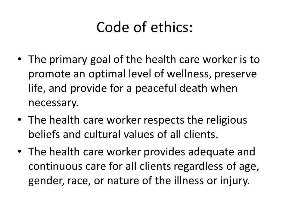 Code of ethics: