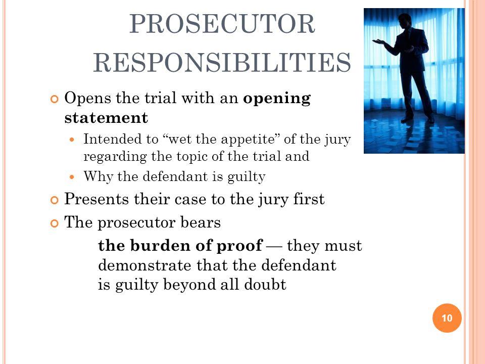 prosecutor responsibilities