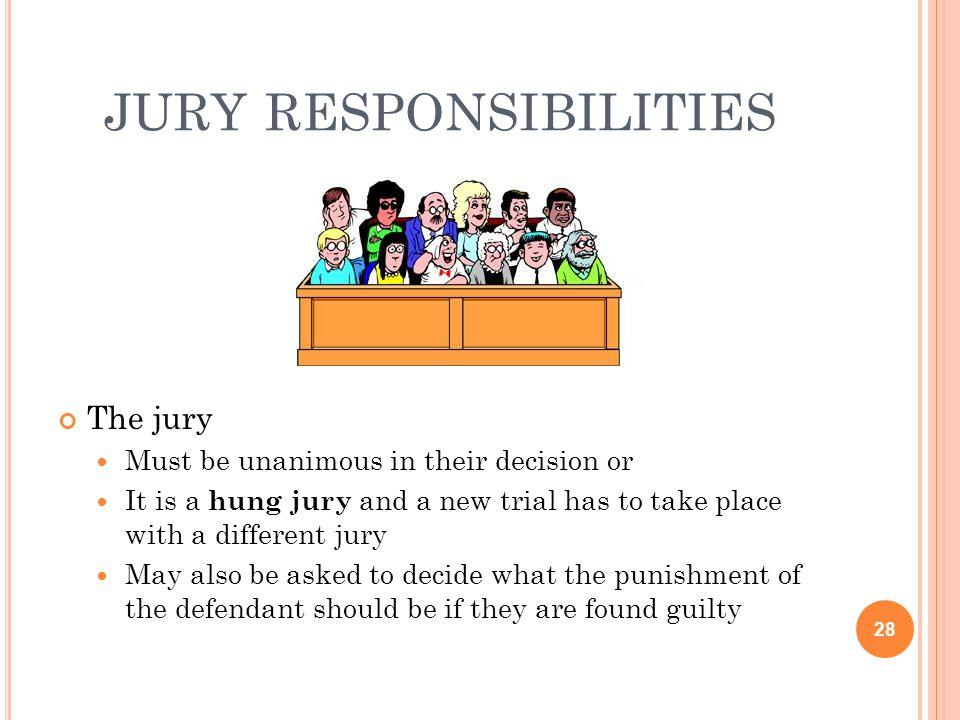 jury responsibilities