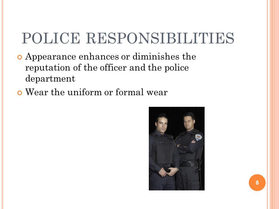 police responsibilities
