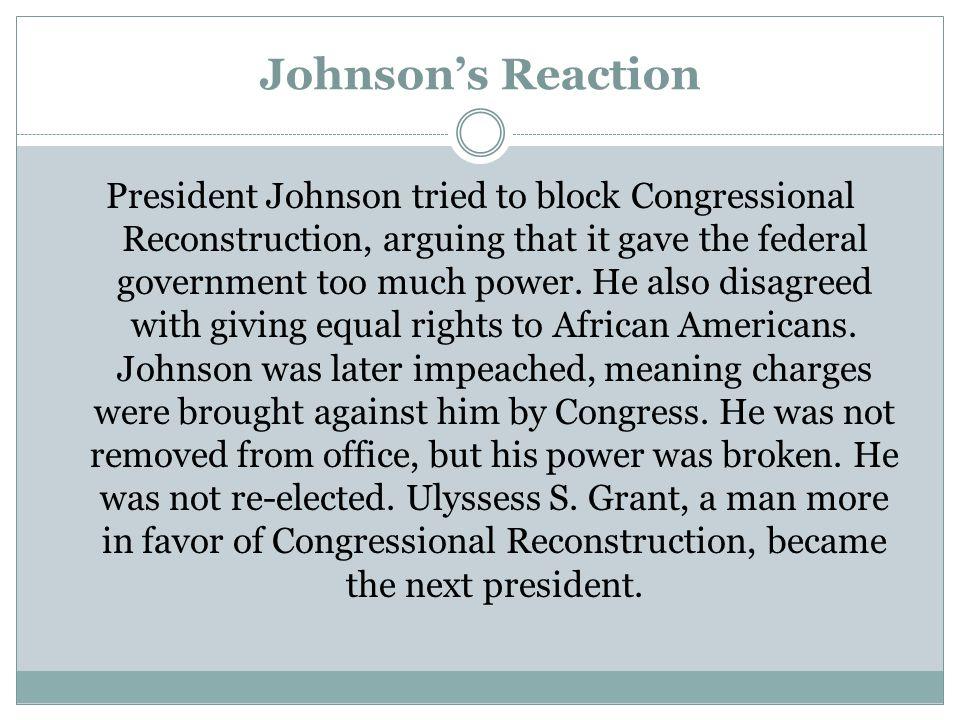 Johnson's Reaction