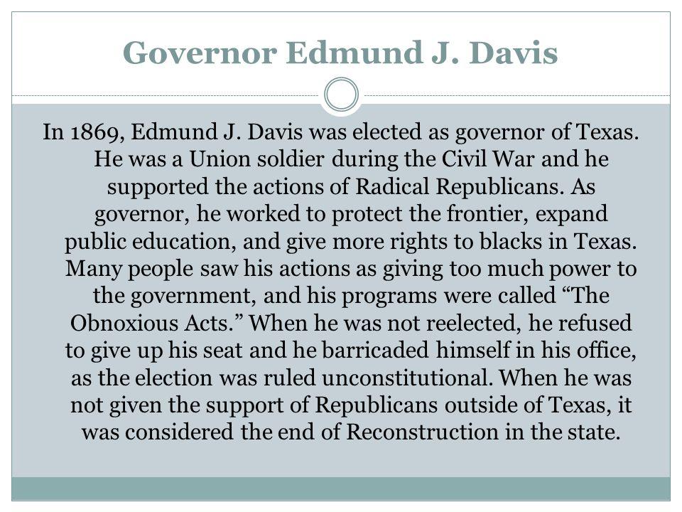 Governor Edmund J. Davis