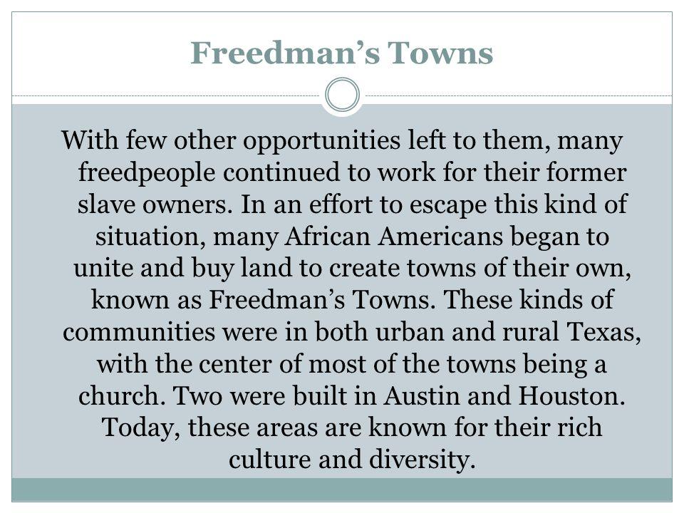 Freedman's Towns