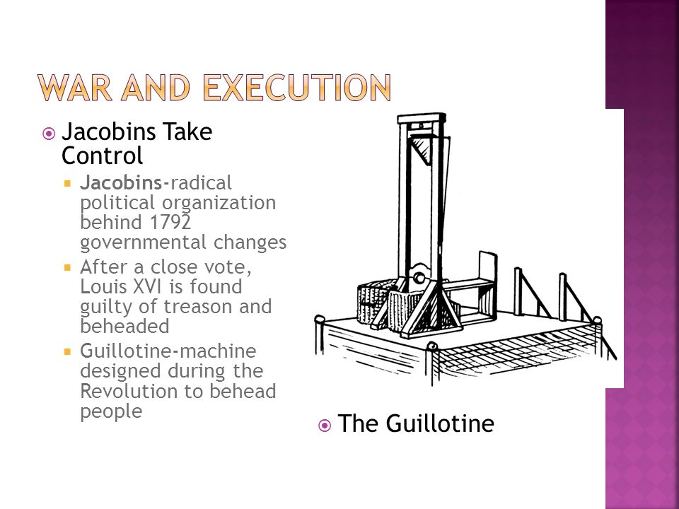 War and execution Jacobins Take Control The Guillotine
