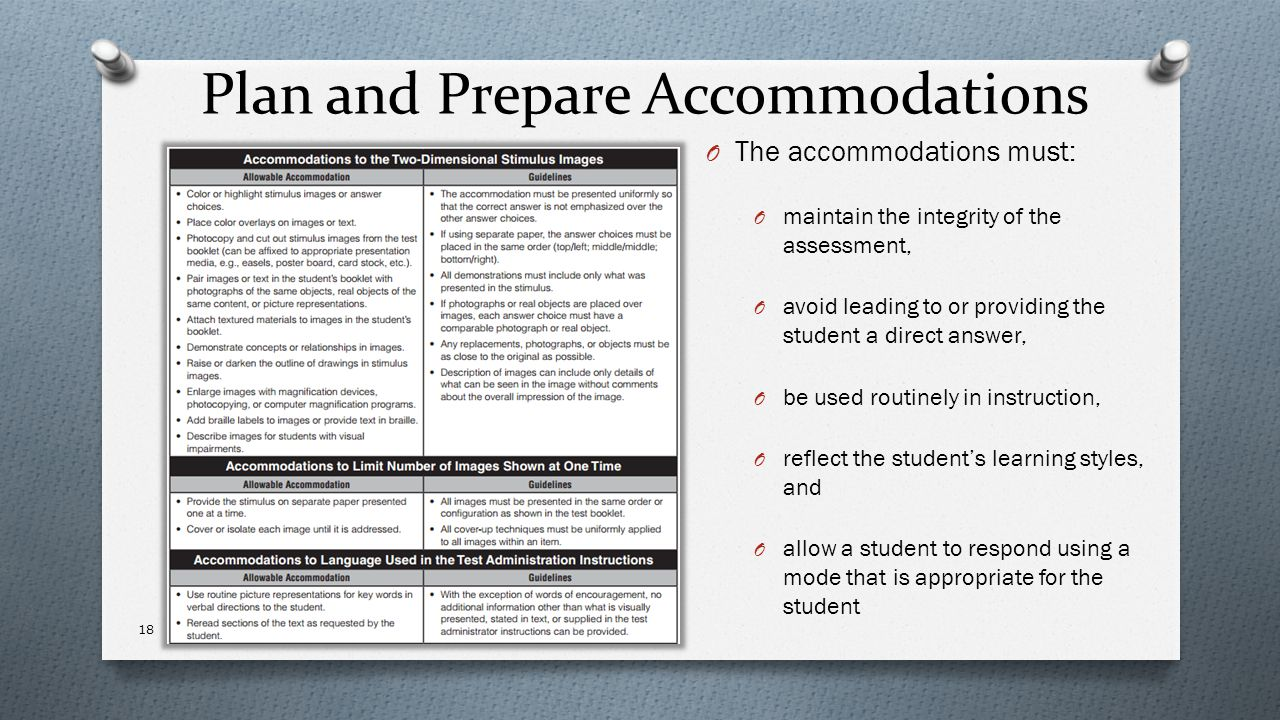 Plan and Prepare Accommodations
