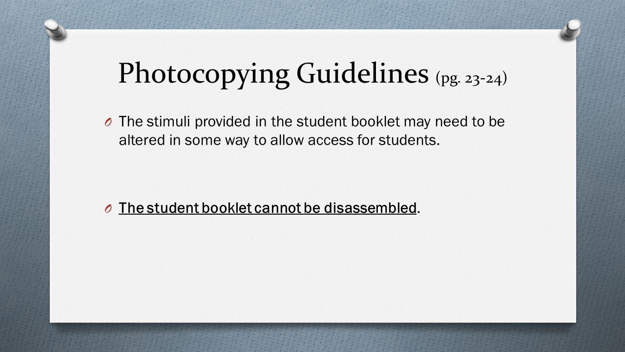 Photocopying Guidelines (pg. 23-24)