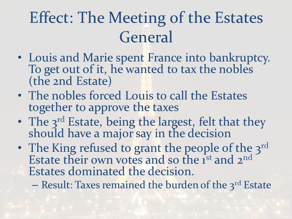 Effect: The Meeting of the Estates General