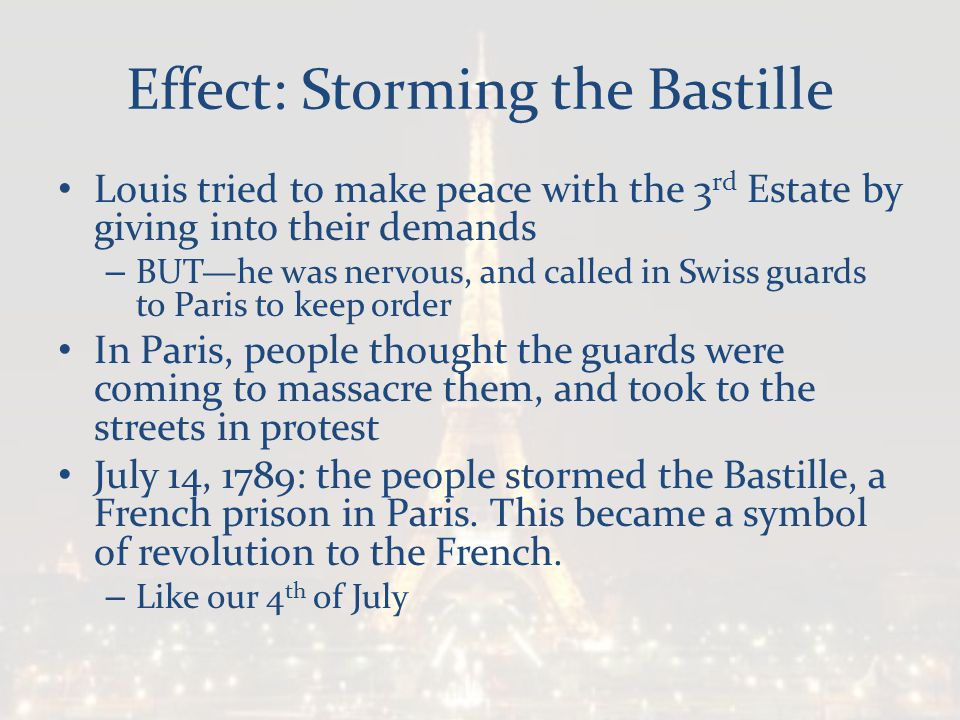 Effect: Storming the Bastille