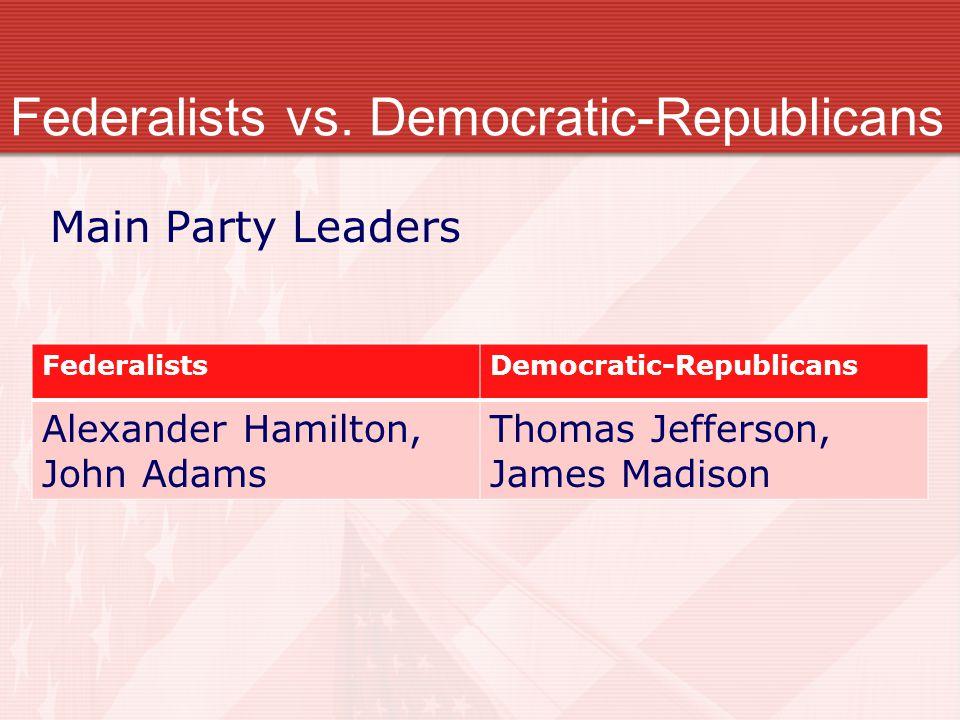 Federalists vs. Democratic-Republicans