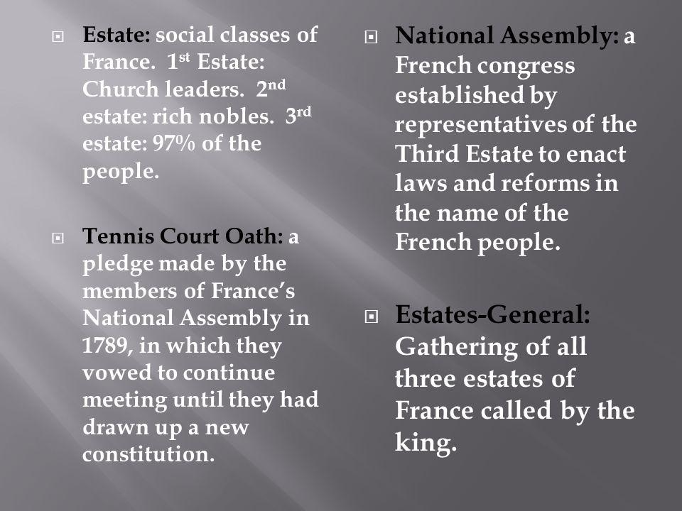 Estate: social classes of France. 1st Estate: Church leaders