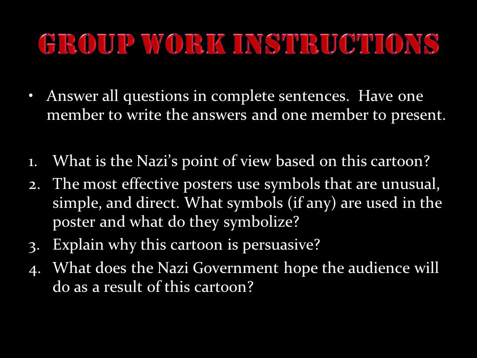 Group Work Instructions