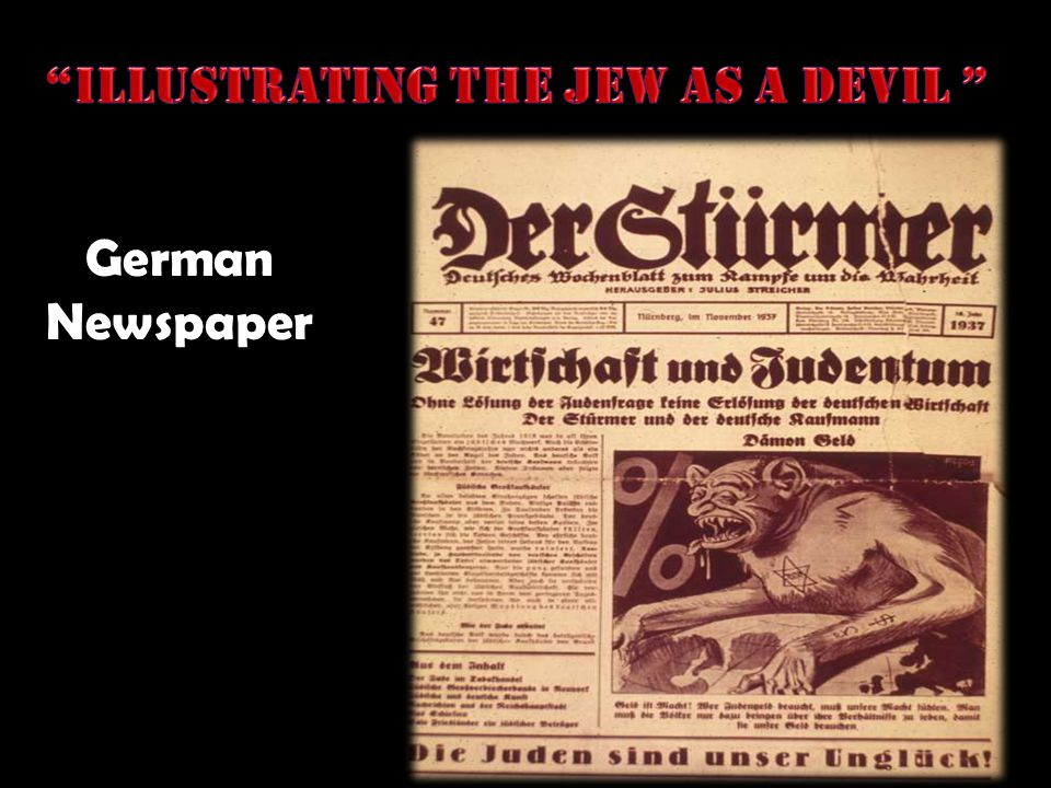 Illustrating the Jew as a devil