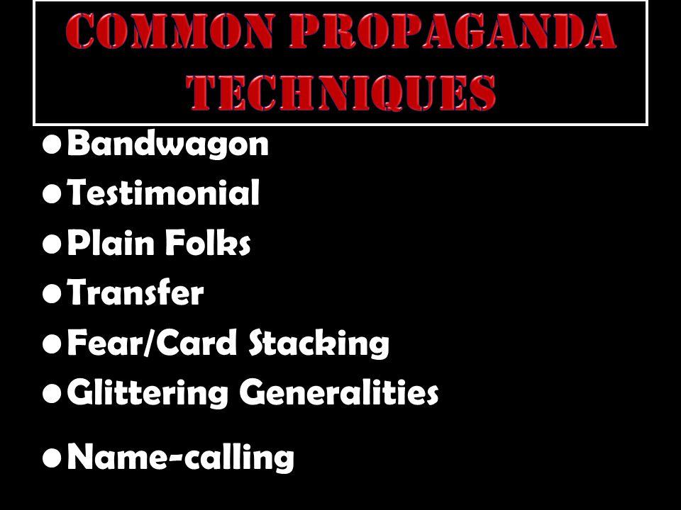 Common Propaganda Techniques