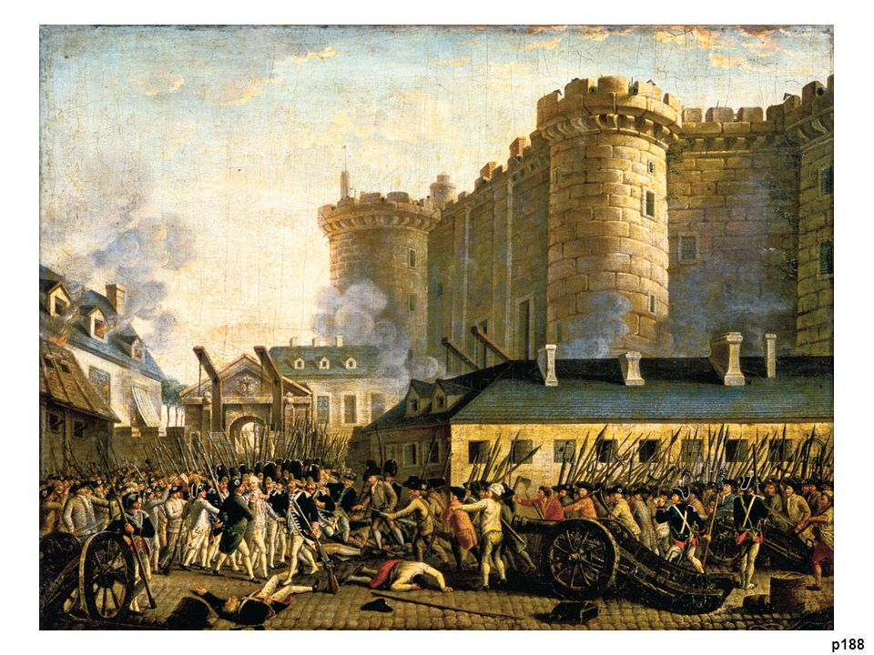 Storming the Bastille, 1789 This event signaled the outbreak of the French Revolution.