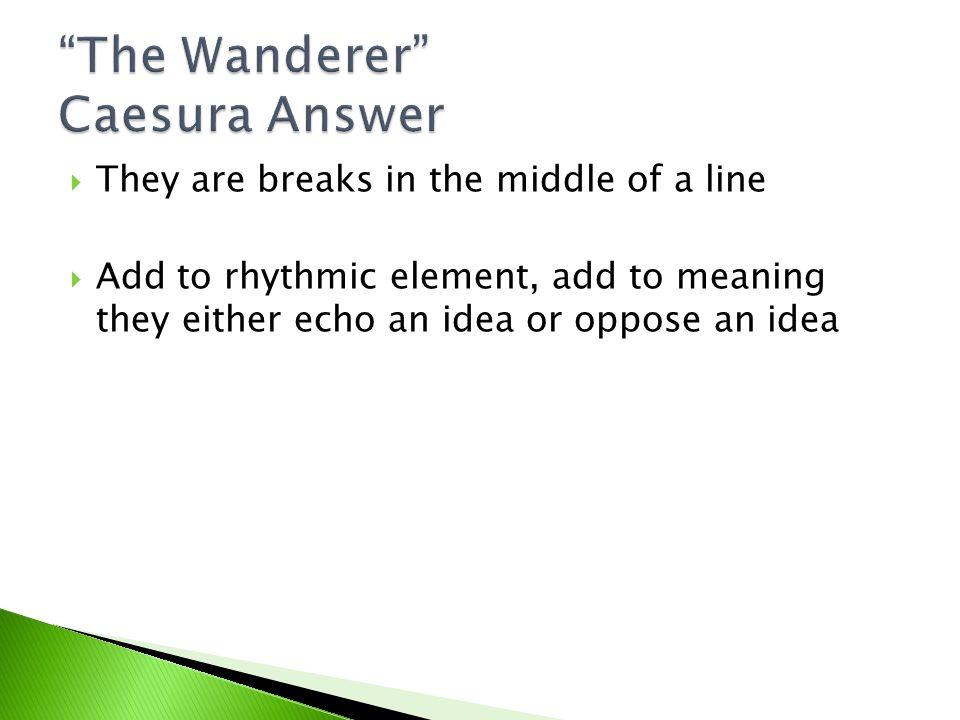The Wanderer Caesura Answer