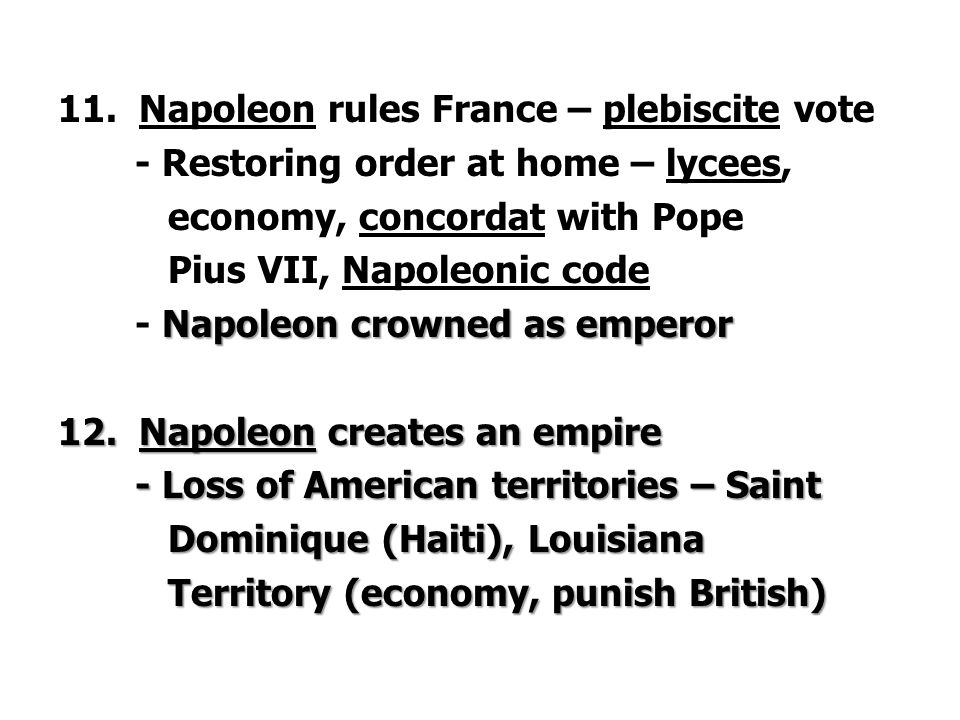 Napoleon rules France – plebiscite vote