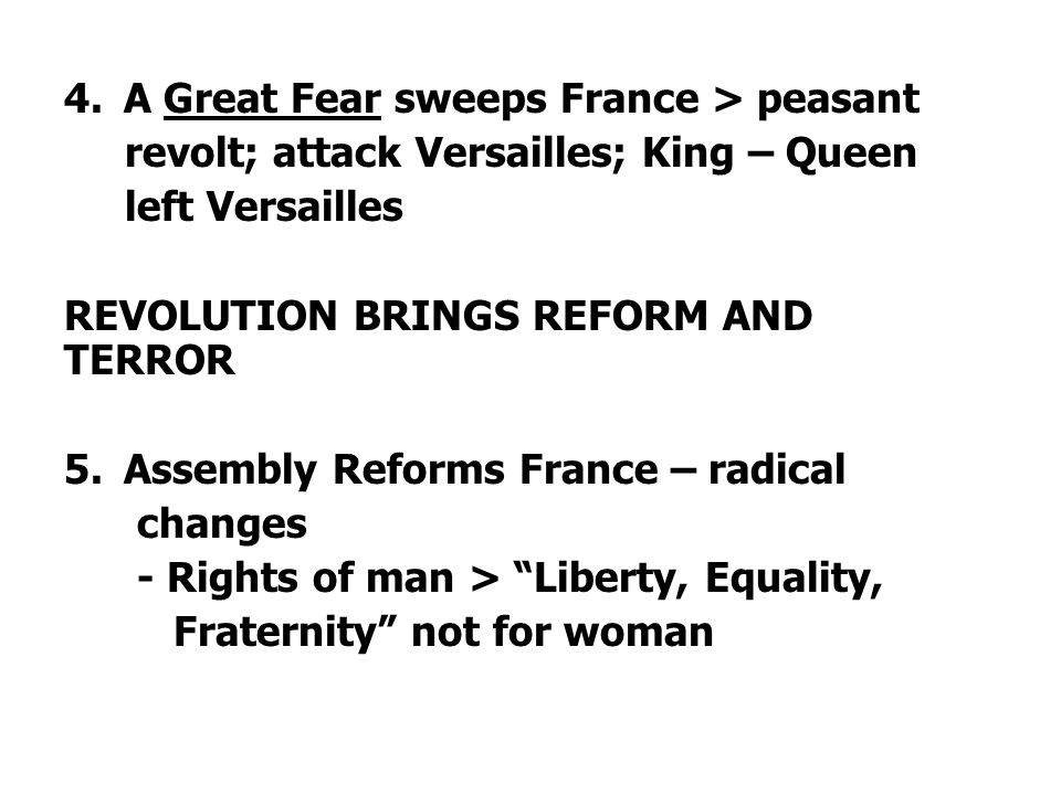 A Great Fear sweeps France > peasant