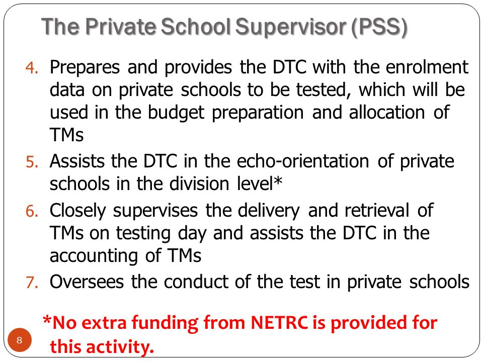 The Private School Supervisor (PSS)