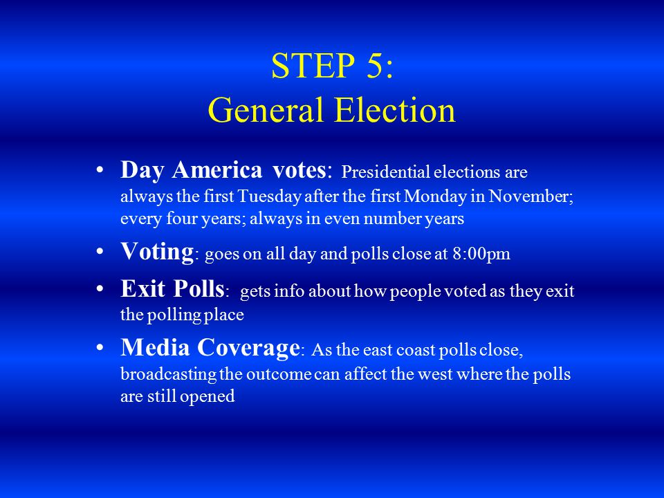 STEP 5: General Election